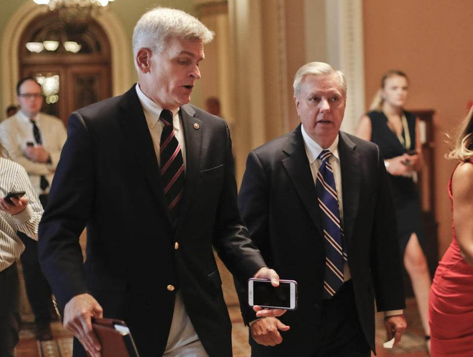 The key senators behind this last-ditch effort to repeal Obamacare are Lindsay Graham (right) and Bill Cassidy.