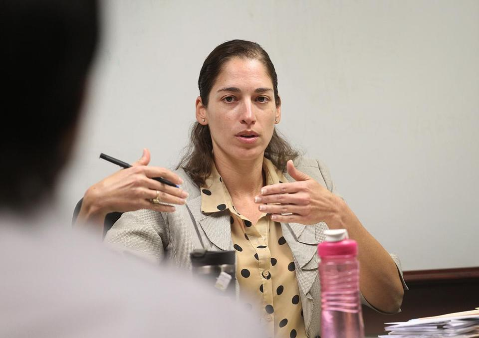 Cambridge License Commission chairwoman Nicole Murati Ferrer has distanced herself from a number of the commission's past actions.