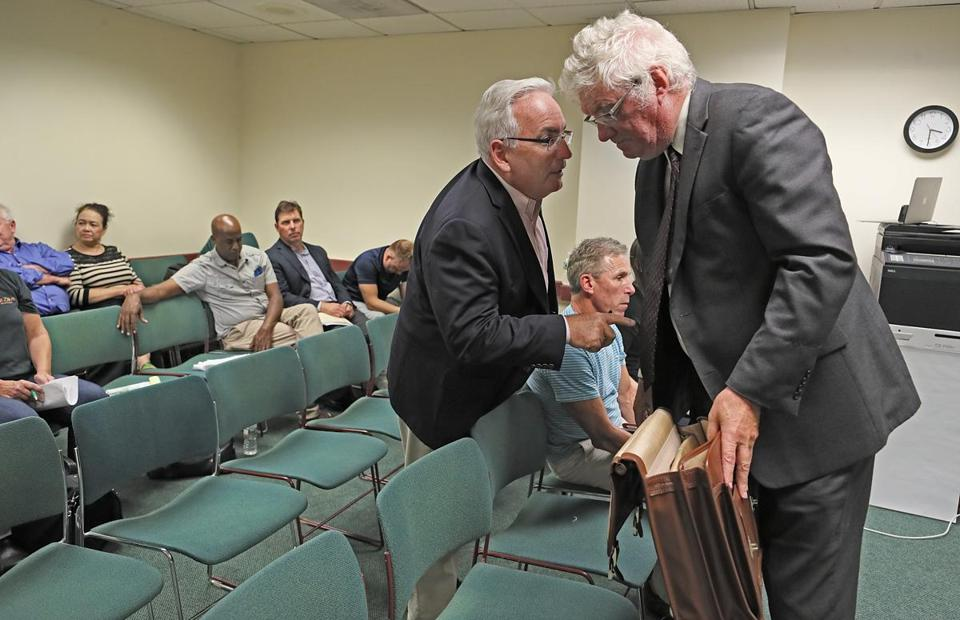 Lawyer James Rafferty (left) has appeared at nearly half of the licensing commission's 254 meetings since late 2008. Lawyer Kevin Crane (right) also often appears before the commission.