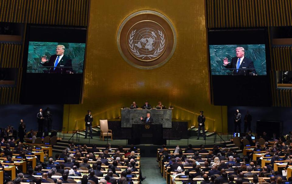 President Donald Trump addressed the 72nd session of the United Nations General Assembly.