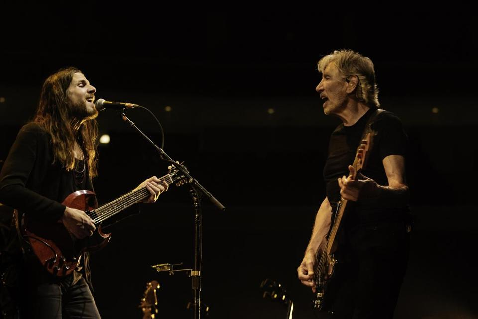 Jonathan Wilson (left) plays guitar in Roger Waters's band and on his new album.