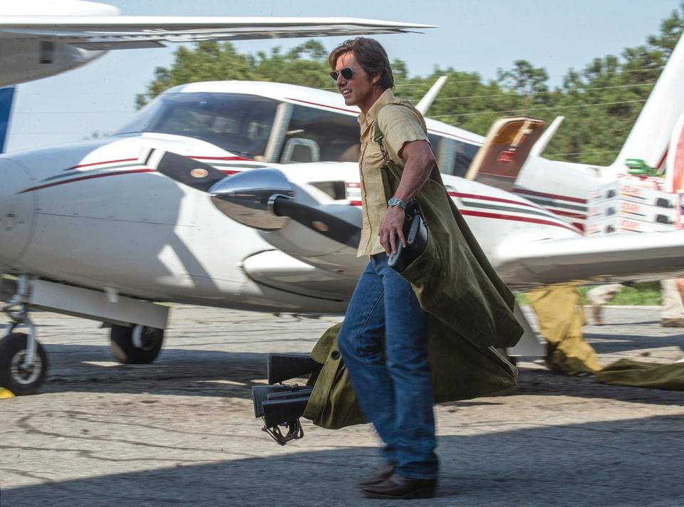 "Tom Cruise as Barry Seal in ""American Made."""