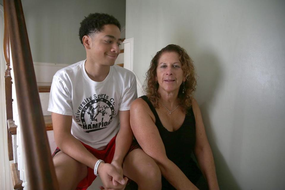 Isaiah Ramsey, 15, doesn't consider it rude to text his mom, Stephanie Ramsey (right).