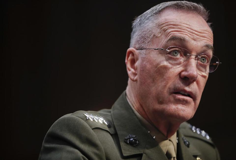 General Joseph Dunford, chair of the Joint Chiefs of Staff.