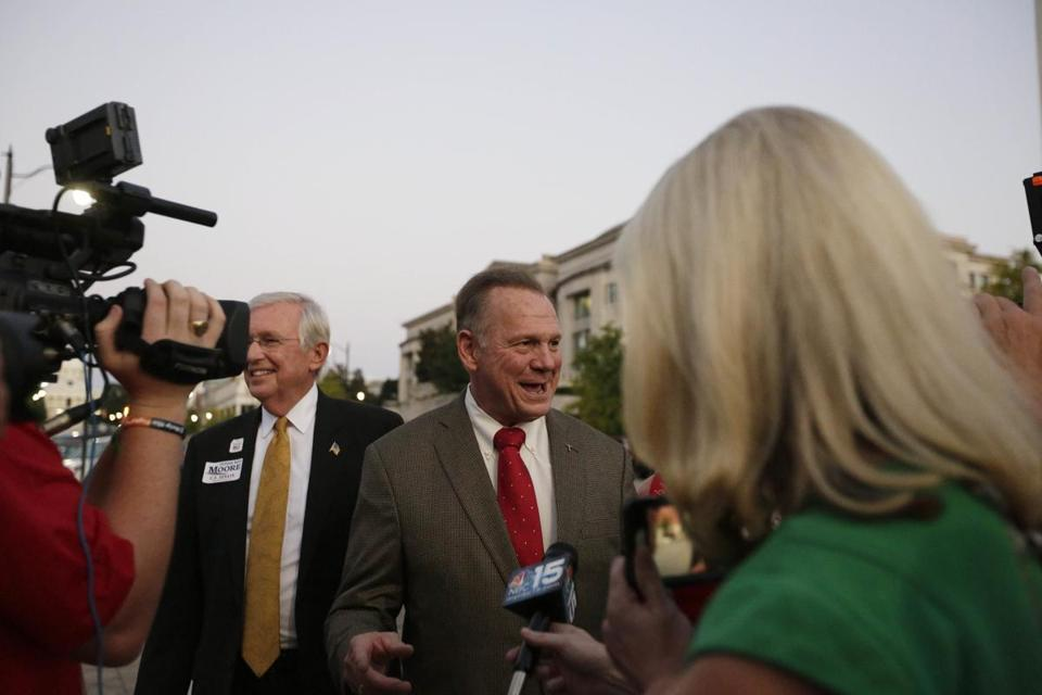 Ex-Alabama chief justice Roy Moore said he supports the Second Amendment.