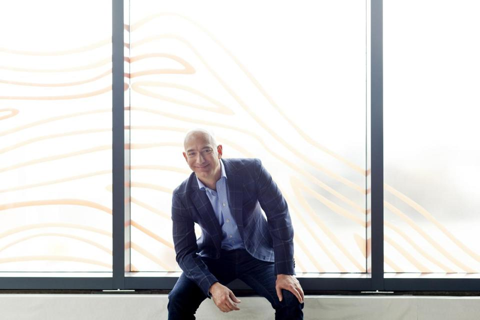 Jeff Bezos, the chief executive officer of Amazon.