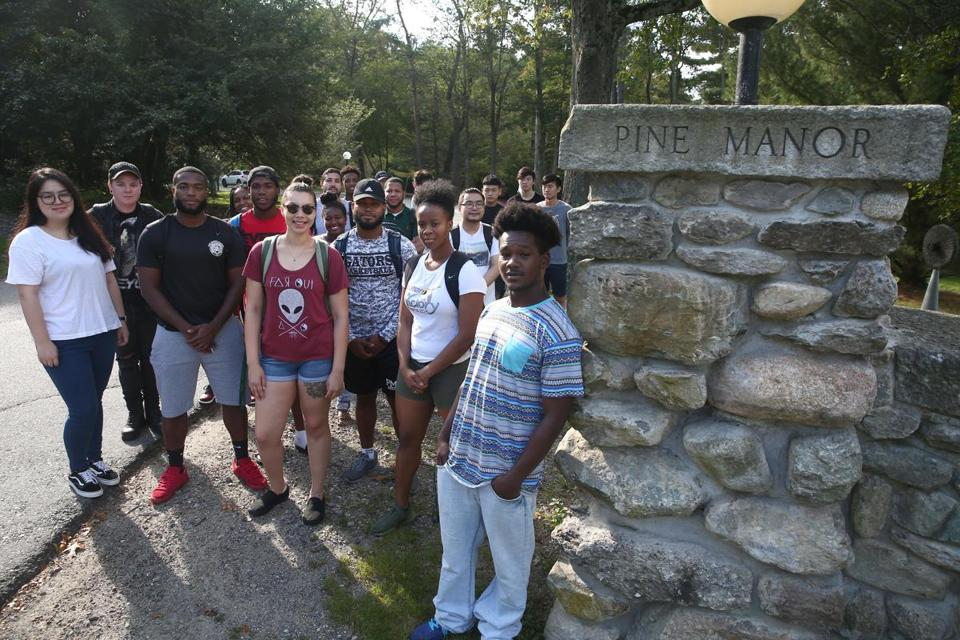Pine Manor College students.