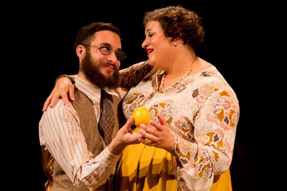 "Isaiah Plovnick and Lindsay Eagle in Flat Earth Theatre's staging of ""A Bright Room Called Day."""