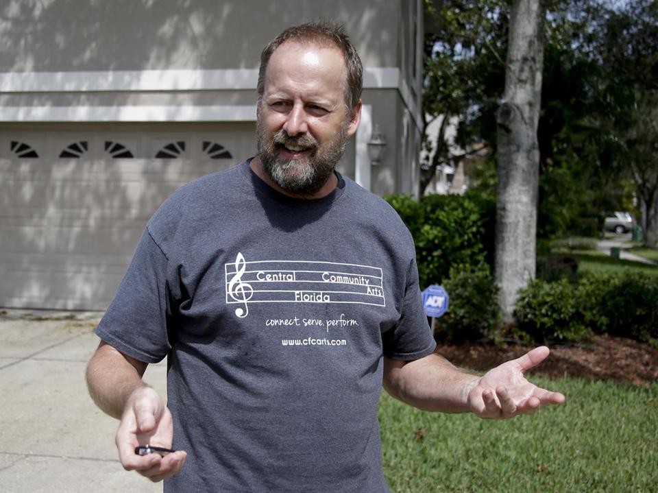 Eric Paddock, brother of Las Vegas gunman Stephen Paddock, spoke to reporters near his home in Orlando, Fla., on Monday.