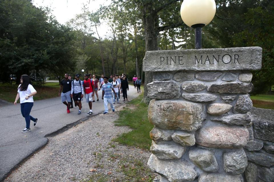 The town of Brookline has proposed taking 7 acres from Pine Manor College by eminent domain to build an elementary school.