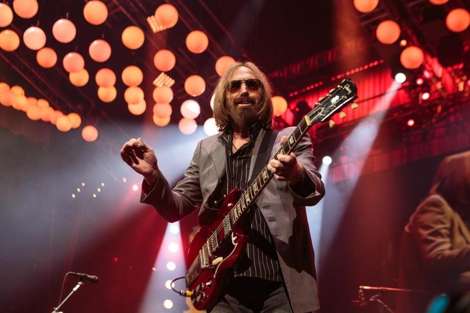 Tom Petty at TD Garden with the Heartbreakers in July during their 40th anniversary tour.