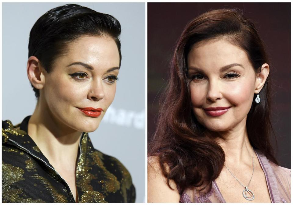 Rose McGowan (left) and Ashley Judd (right).