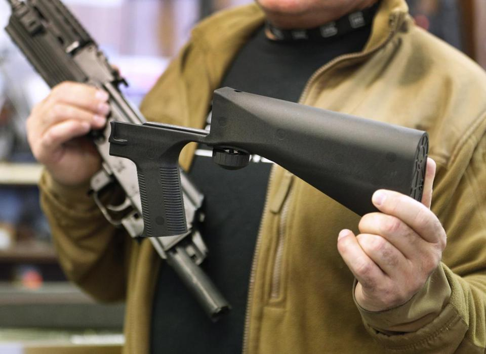 A bump stock uses the energy from a weapon's recoil to rapidly and repeatedly put pressure on the trigger.