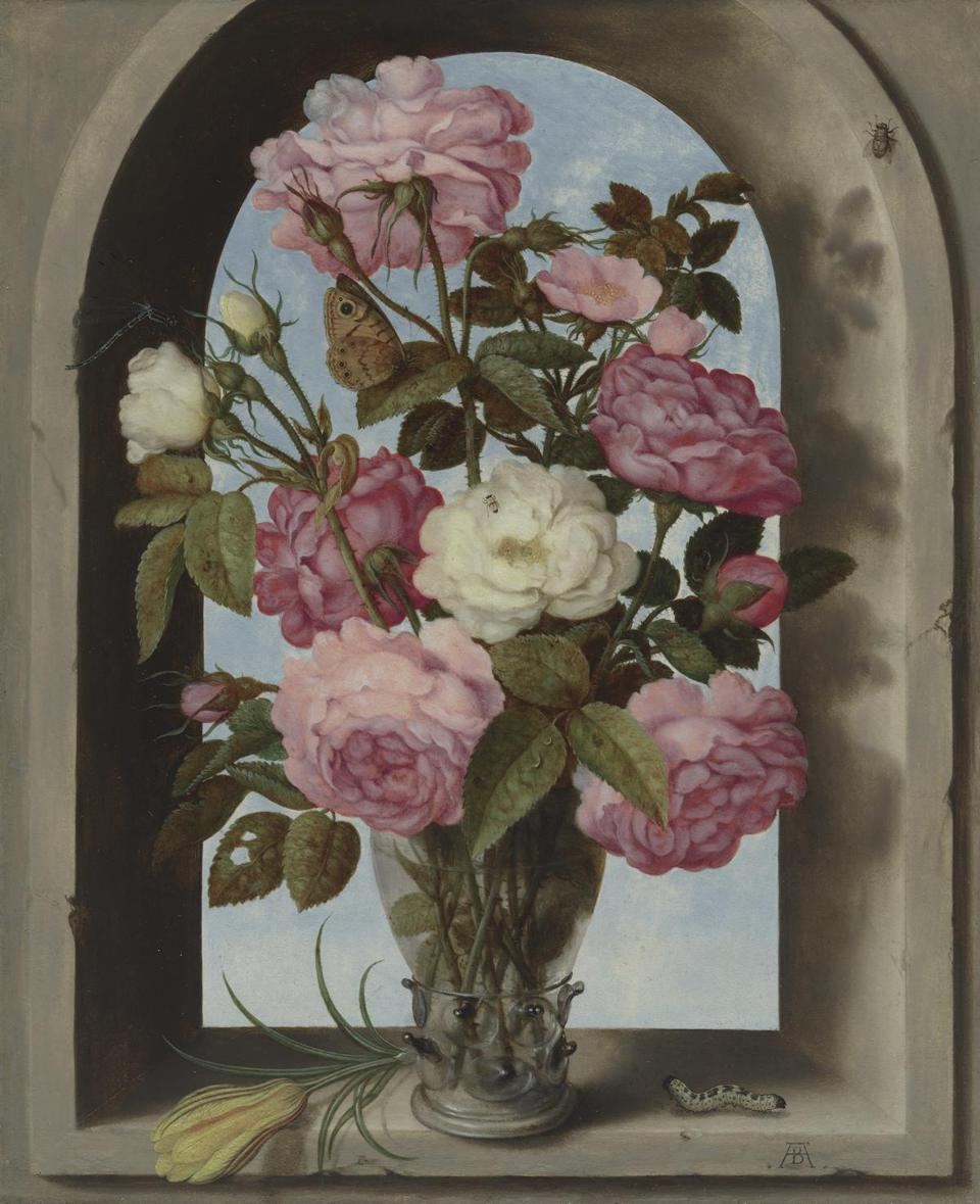 Still Life with Roses in a Glass Vase Ambrosius Bosschaert the Elder (Dutch, 1573Ð1621) about 1619 Oil on copper * Rose-Marie and Eijk van Otterloo Collection * Courtesy Museum of Fine Arts, Boston 12dutchgift
