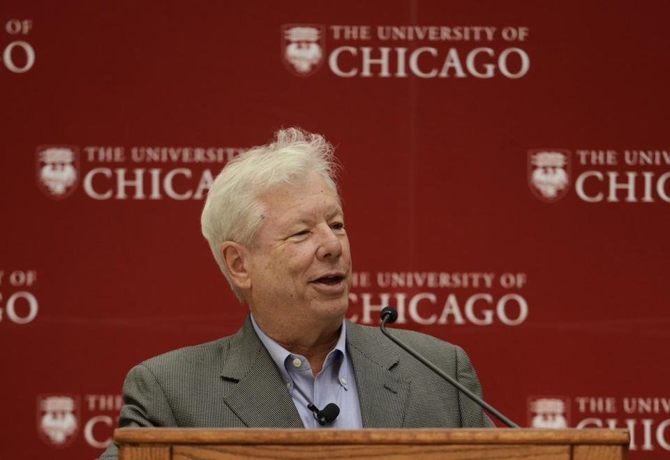 Richard Thaler was awarded the Nobel Prize for documenting the way people's behavior doesn't conform to economic models.