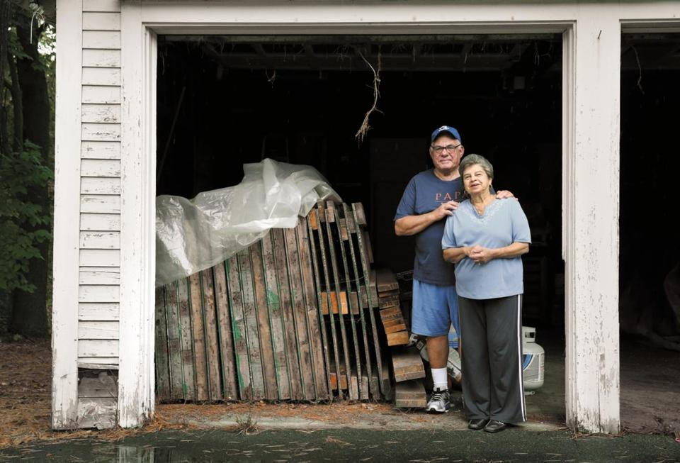 Richard and Gale Wilgoren in years past served a couple of dozen guests in their sukkah, which was decorated for the Sukkot festival by family members but now sits in their garage.