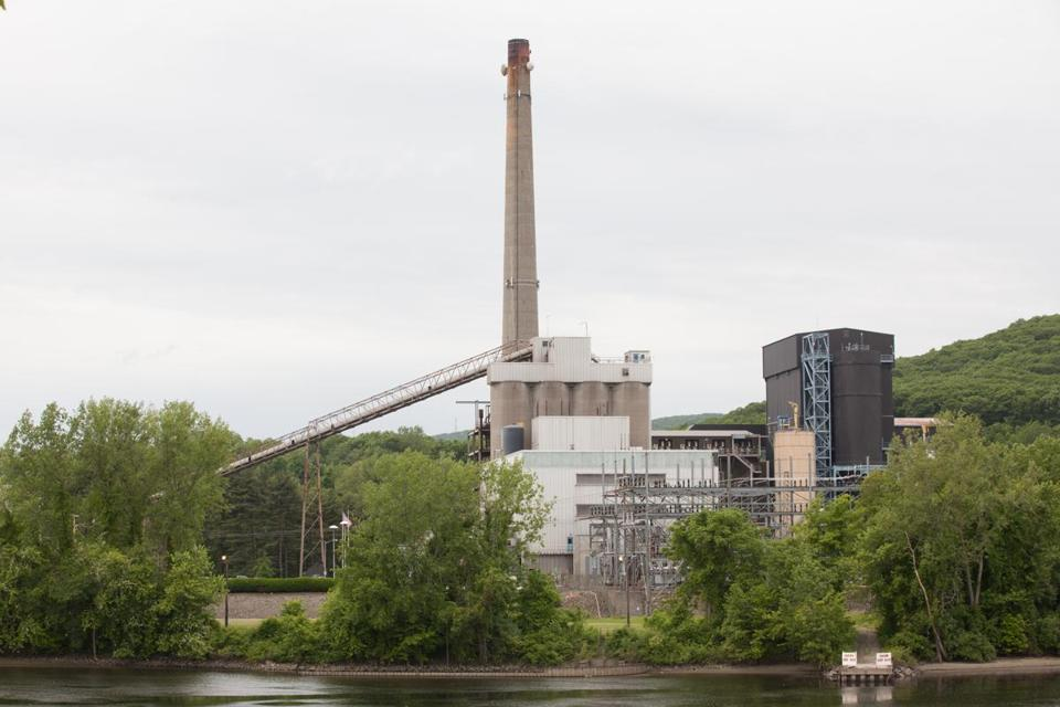 The Mt. Tom coal-fired power plant in Holyoke closed in 2014.