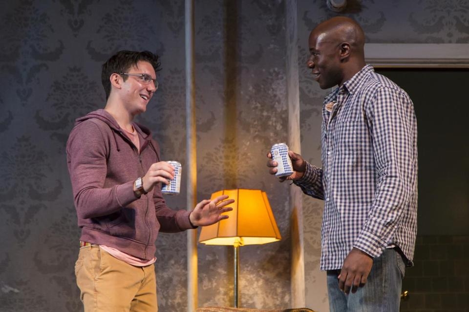 "Samuel H. Levine (left) and McKinley Belcher III in ""A Guide for the Homesick."""