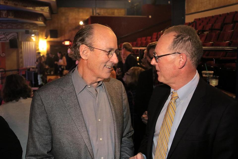 Tracy Kidder and Paul Farmer before the screening.