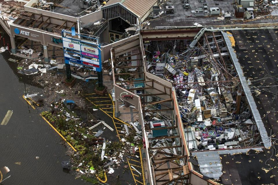 The Palma Real Shopping Center in Humacao, Puerto Rico, on Sept. 22, two days after Hurricane Maria hit the island.