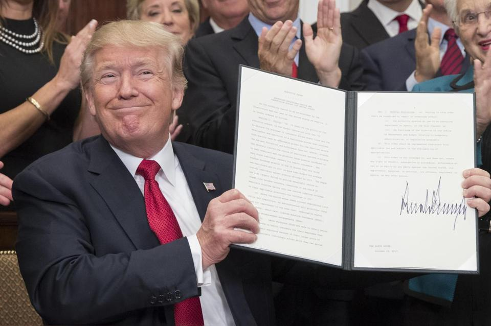 President Donald Trump signed an executive order on healthcare.