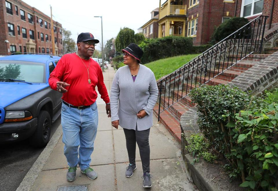 Ed Redd, a retired district court judge, and his wife Shirley, live across the street from Boston mayoral candidate Tito Jackson.