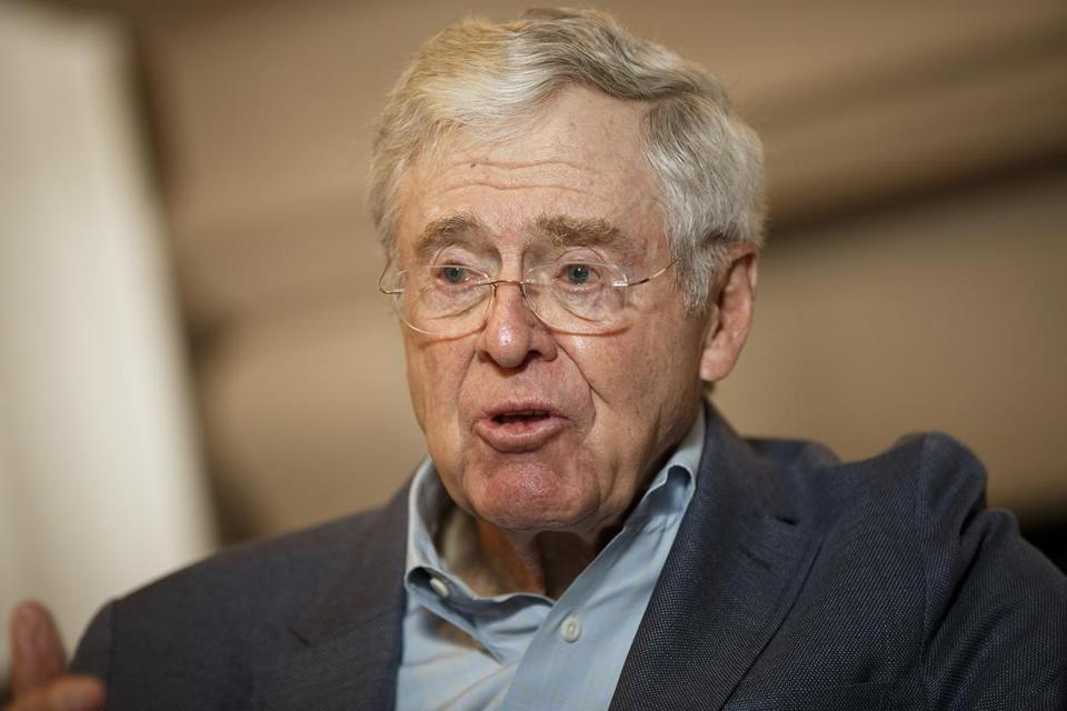 Charles Koch during a 2015 interview.