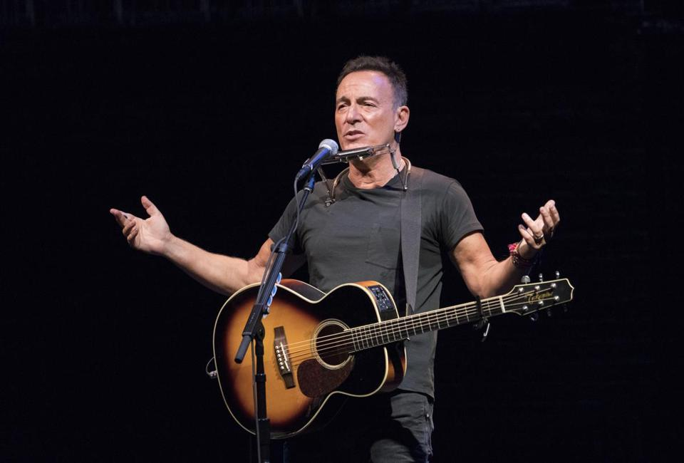 "Bruce Springsteen in ""Springsteen on Broadway"" at the Walter Kerr Theater in New York."