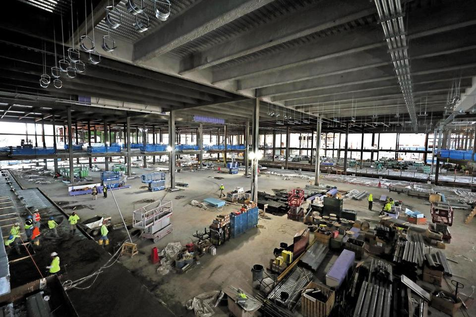 EVERETT, MA - 10/16/2017: Interior view of gaming room at Wynn casino in Everett that is a work in progress. () SECTION: METRO TOPIC 17wynnbuild