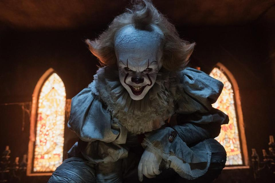 "Bill Skarsgard in a scene from ""It."""