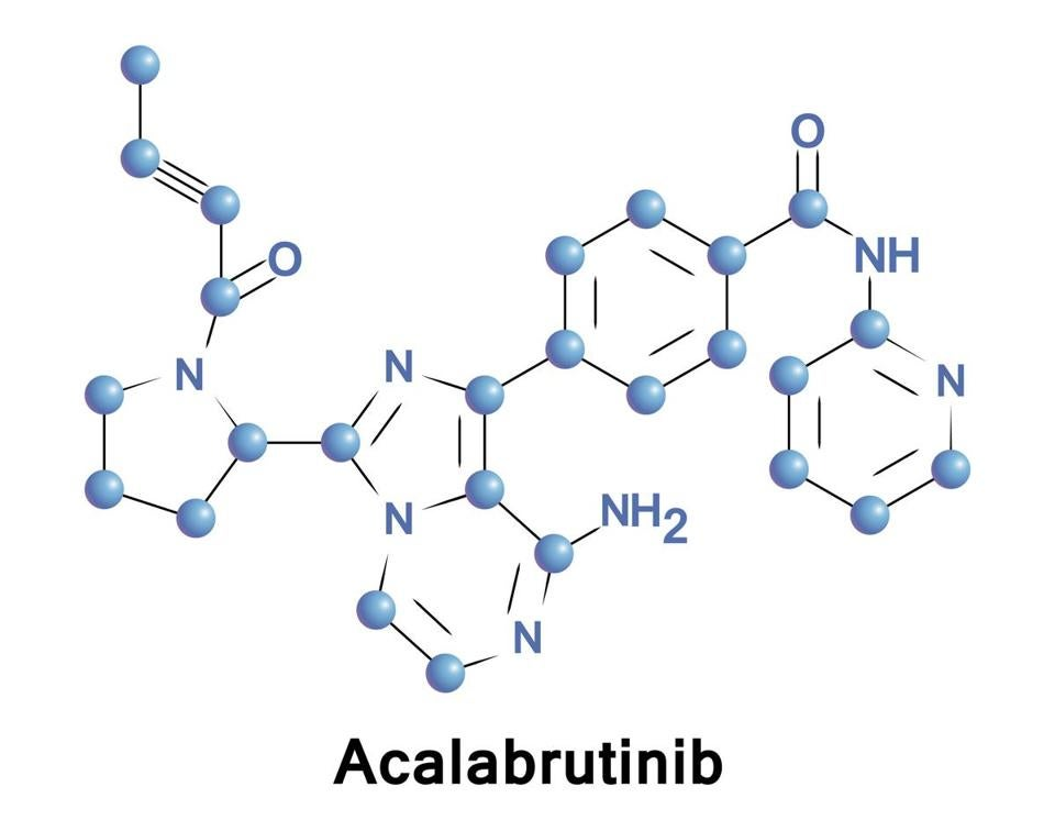 Acalabrutinib is a novel experimental anti-cancer drug and a 2nd generation Bruton tyrosine kinase inhibitor. It is more potent and selective than ibrutinib, the first-in-class BTK inhibitor