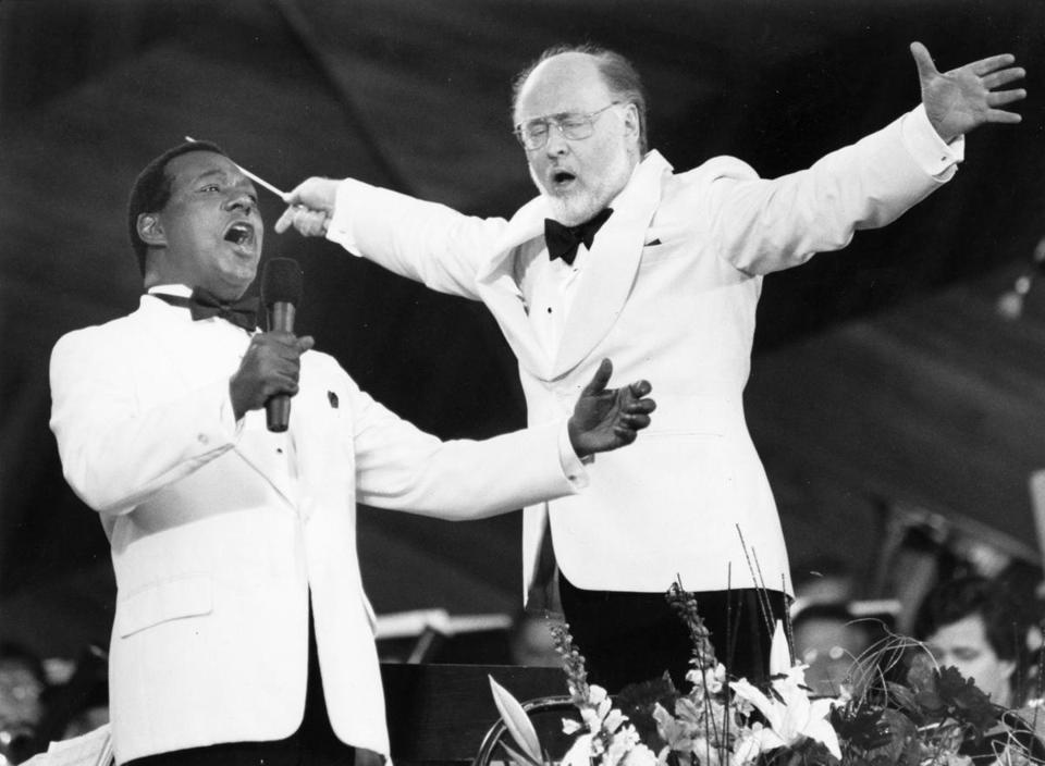 Mr. Honeysucker with conductor John Williams in 1993.