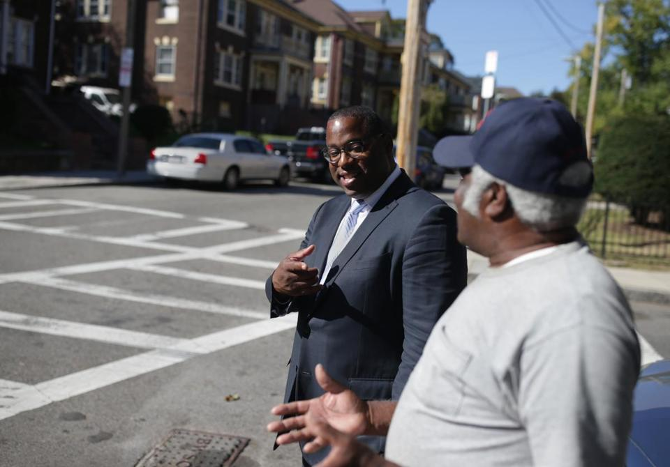 City Councilor Tito Jackson visited his childhood neighborhood.