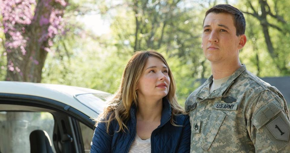 "Haley Bennett and Miles Teller in a scene from ""Thank You for Your Service."""