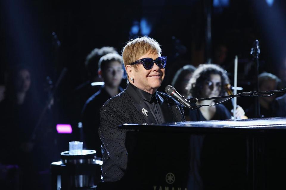 Elton John performed last month in Rome at a benefit for the Andrea Bocelli Foundation and the Muhammad Ali Parkinson Center.