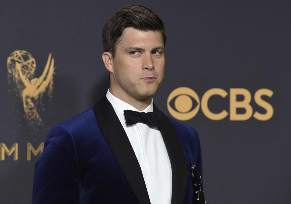 Colin Jost at the Emmy Awards in September.