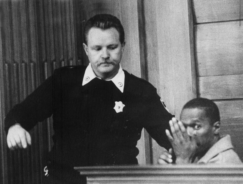 Willie Bennett appeared in Brookline District Court in November 1989, after he was taken into custody.