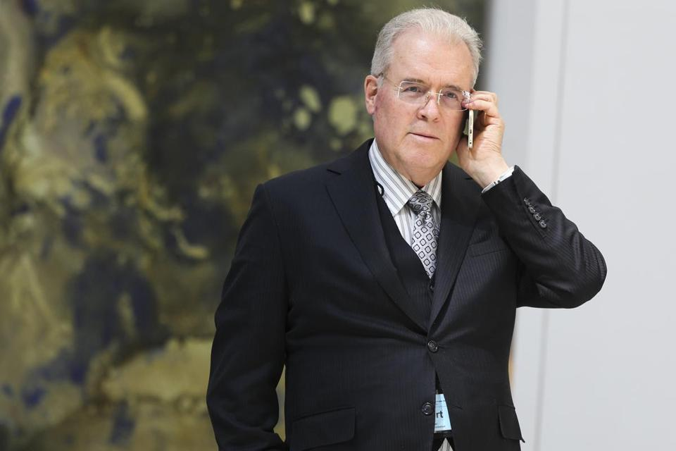Billionaire Robert Mercer spoke on the phone during the 12th International Conference on Climate Change in March.
