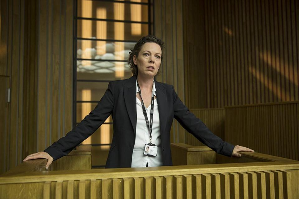 "Olivia Colman (pictured in ""Broadchurch"") will take over the lead role of Queen Elizabeth II on ""The Crown"" in season three and is expected to remain for season four."