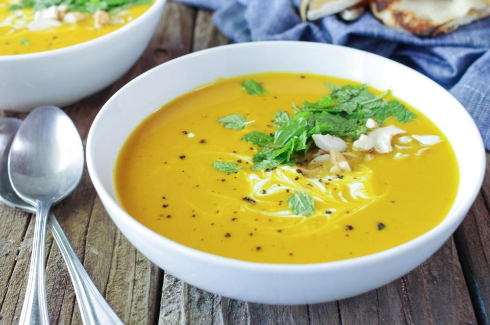 Sweet potato bisque with turmeric