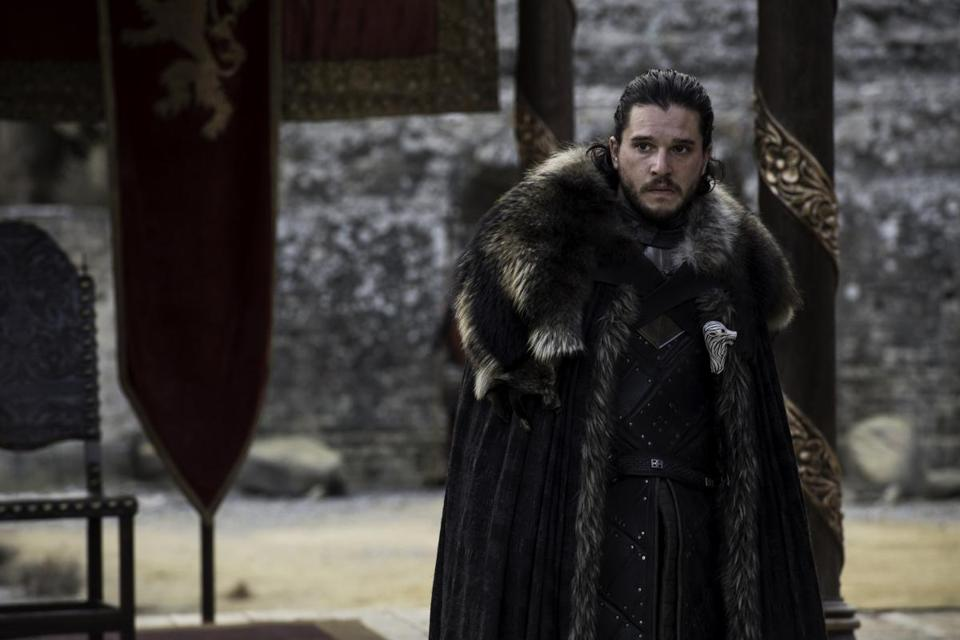 "This photo provided by HBO shows Kit Harington as Jon Snow in the Season 7 finale of HBO's ""Game of Thrones."" Snow got into serious trouble for refusing to lie about his loyalties in the episode, but honesty can be an economic virtue. (Macall B. Polay/Courtesy of HBO via AP)"