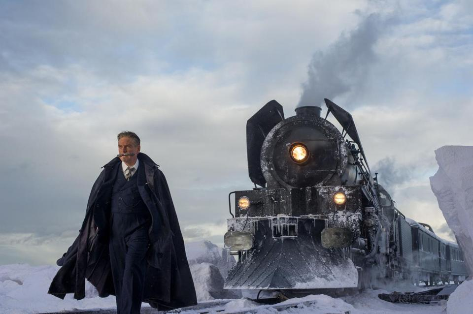 "Kenneth Branagh stars as detective Hercule Poirot in ""Murder on the Orient Express."""