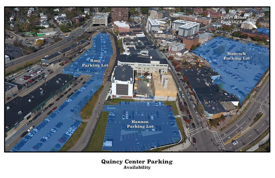 12soinformer - More than 600 parking spaces will be made available for residents and visitors by Quincy Center. (Handout)