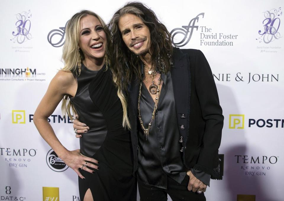 Steven Tyler and Aimee Preston at the David Foster Foundation gala last month.
