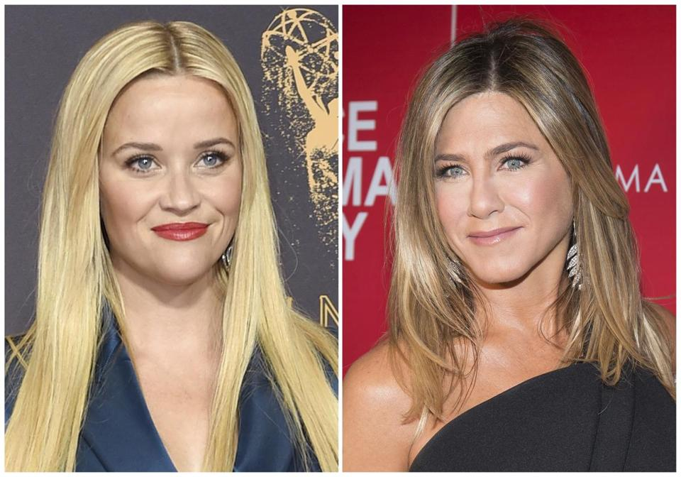 ''Friends'' star Jennifer Aniston is coming back to TV and she's partnering with Reese Witherspoon (left).