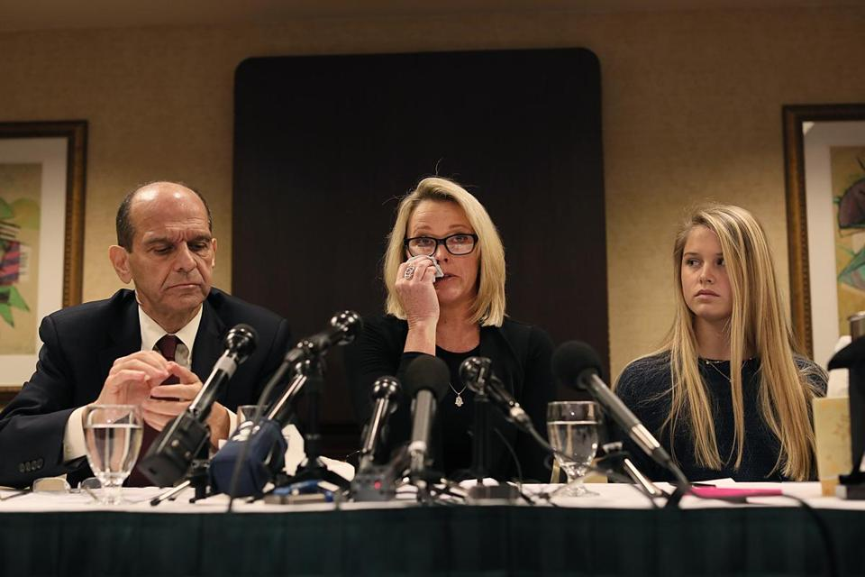 Heather Unruh appeared at a news conference Wednesday.