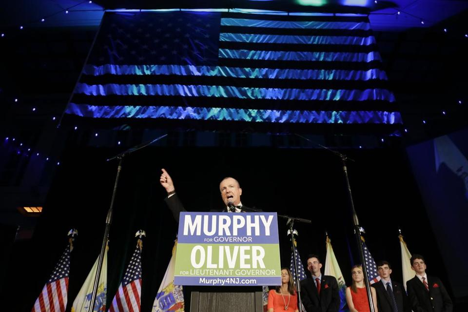 New Jersey Governor-elect Phil Murphy speaks to supporters during his election night victory party on Nov. 7, in Asbury Park, N.J.