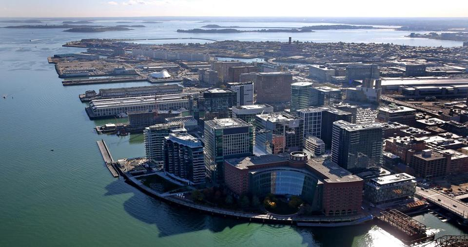 BOSTON, MA - 11/09/2017: Fan Pier Seaport area aerial (David L Ryan/Globe Staff ) SECTION: METRO TOPIC