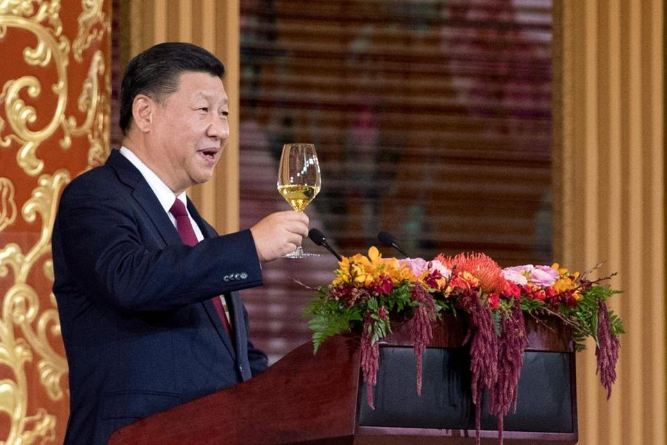 China's President Xi Jinping made a toast for President Donald Trump during the state dinner.