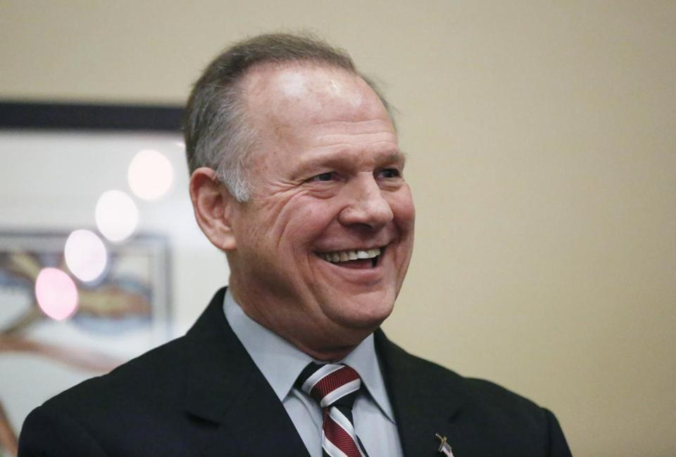 Roy Moore, a candidate for US Senate from Alabama, waited to speak the Vestavia Hills, Ala., library on Saturday.